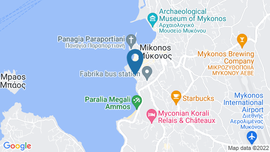 Mykonos Theoxenia  Boutique Hotel Map