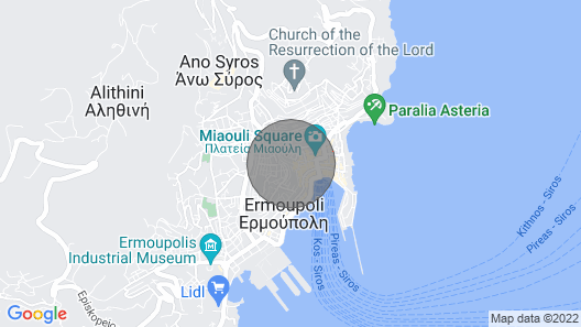 Syros Central - Holiday Apartment Rental Map