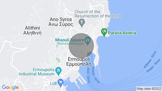 Arion Apartment Syros Map