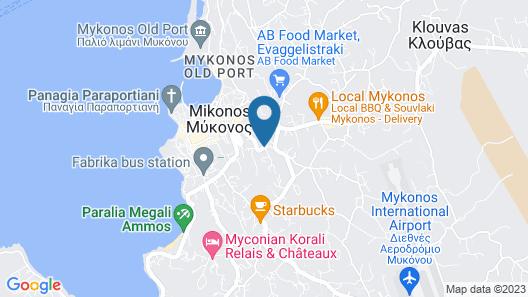 Hermes Mykonos Hotel Map