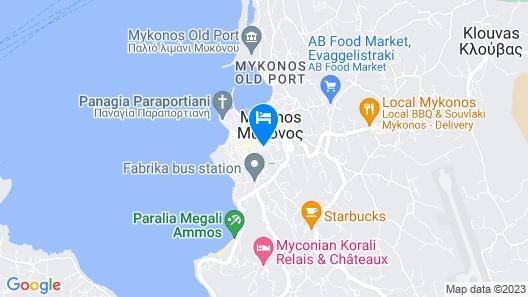 Mykonos Town Suites Map