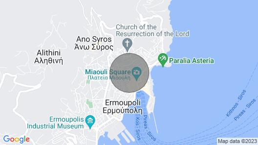 Villa Maria-Syros,Daphne Map