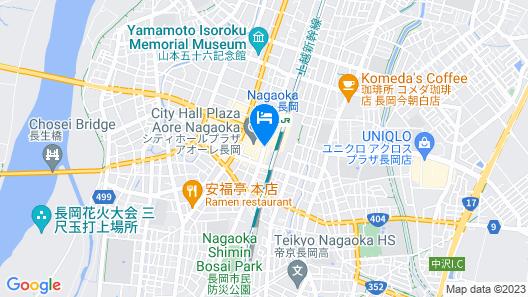 HOTEL HOKKE CLUB NIIGATA-NAGAOKA Map