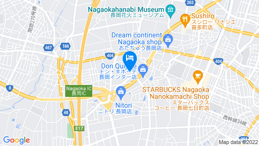 Hotel Business Inn Nagaoka Map