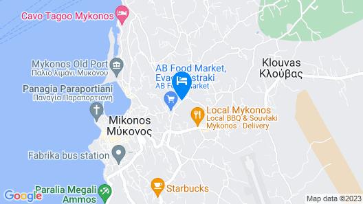 A Hotel Mykonos Map