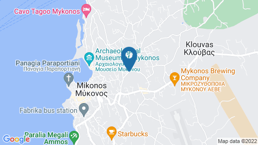 My Mykonos Hotel Map