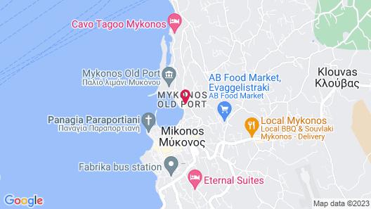 Mycocoon Hostel Mykonos Map