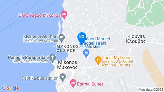 Maria-Katerina-Mykonos Apartments Map