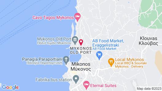 Porto Mykonos Hotel Map