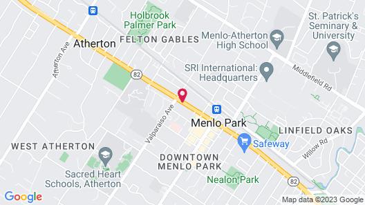 Menlo Park Inn Map