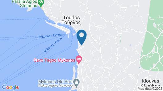 Bellevue Mykonos Hotel Map