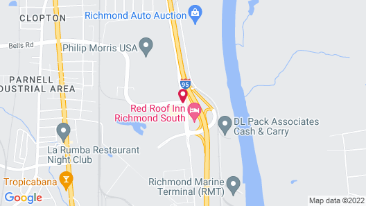 Candlewood Suites Richmond-South Map