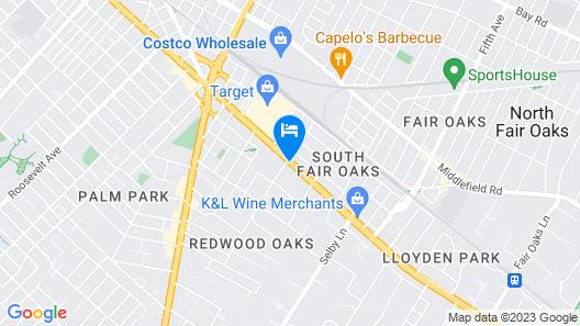 Days Inn by Wyndham Redwood City Map