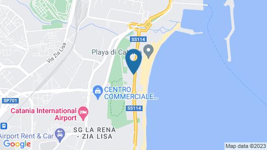 Le Dune Sicily Hotel Map