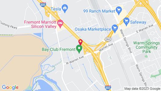 Hampton Inn Fremont Map