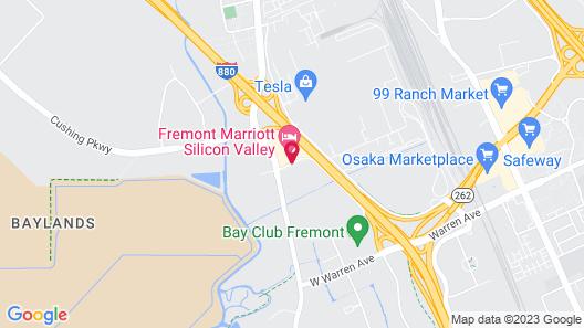 Fremont Marriott Silicon Valley Map