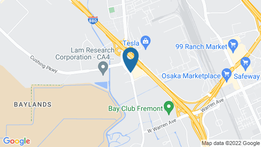 Extended Stay America Fremont - Fremont Boulevard South Map