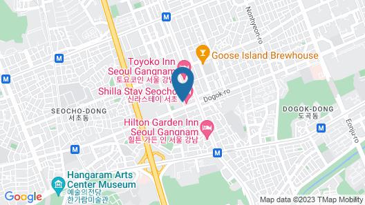 Shilla Stay Seocho Map