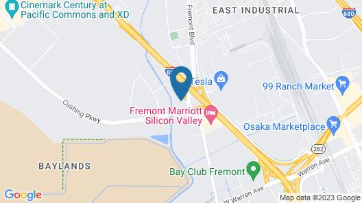 Good Nite Inn Fremont - Silicon Valley Map