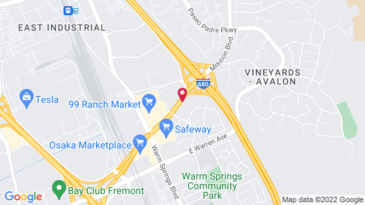 Extended Stay America Suites Fremont Warm Springs Map