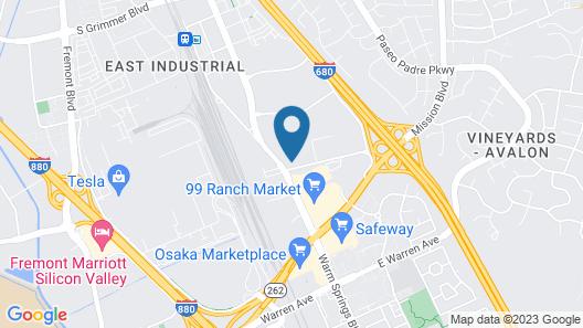 Hilton Garden Inn Fremont Milpitas Map