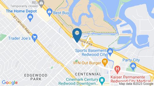 Good Nite Inn - Redwood City Map