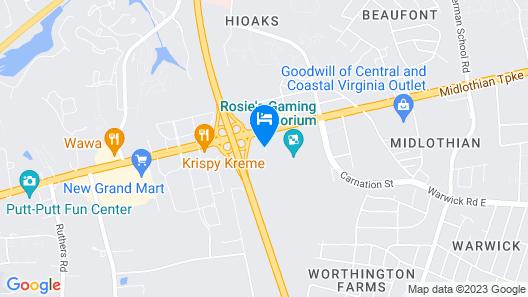 Motel 6 Richmond, VA - Midlothian Turnpike Map