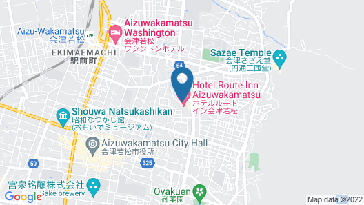 Hotel Route-Inn Aizuwakamatsu Map