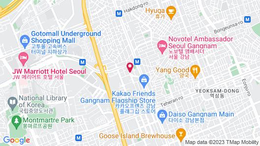 OCLOUD HOTEL GANGNAM Map