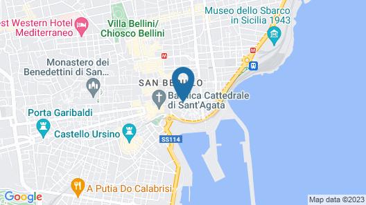 Suite Inn Catania Map