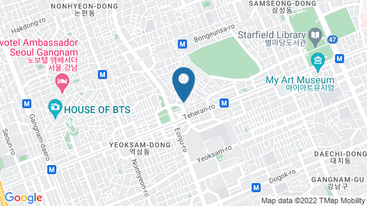 YaKorea Hostel Gangnam Map