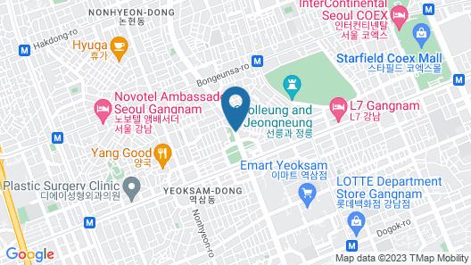 Shilla Stay Yeoksam Map