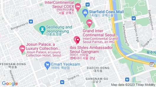 ibis Styles Ambassador Seoul Gangnam Map