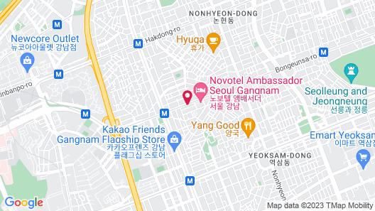 Le Meridien Seoul Map