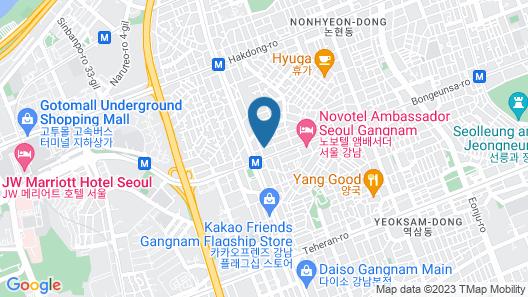 K-Grand Hostel Gangnam 1 Map