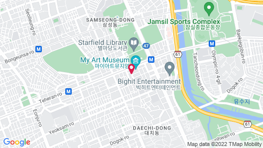 KPOP Coex Gangnam Stay Map