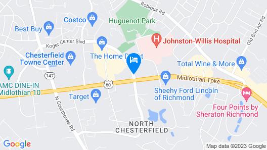 Doubletree by Hilton Richmond-Midlothian Map