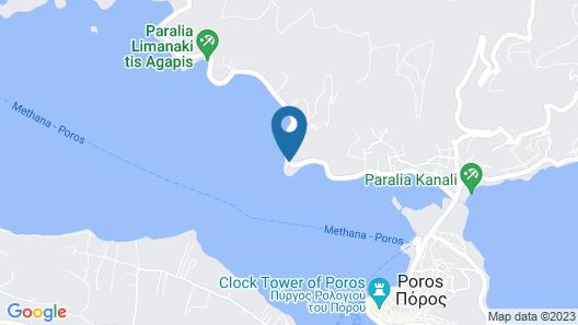 Xenia Poros Image Hotel Map