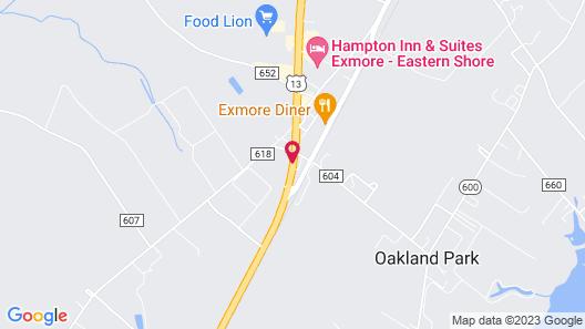 Hampton Suites Exmore Eastern Shore Map