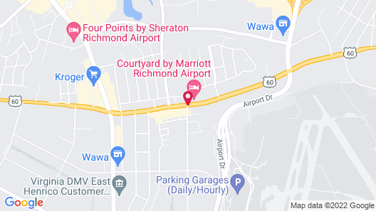 Courtyard by Marriott Richmond Airport Map