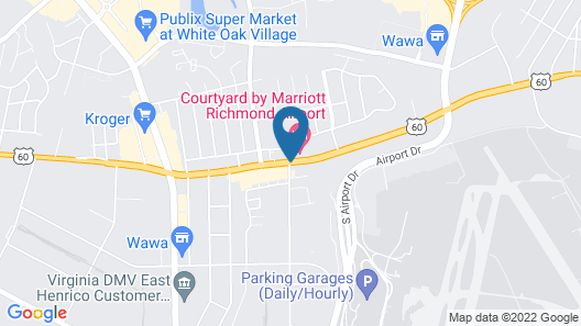 Courtyard by Marriott Richmond Airport Map