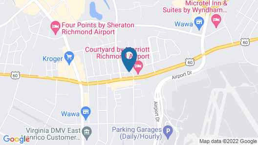 Best Western Plus Richmond Airport Hotel Map