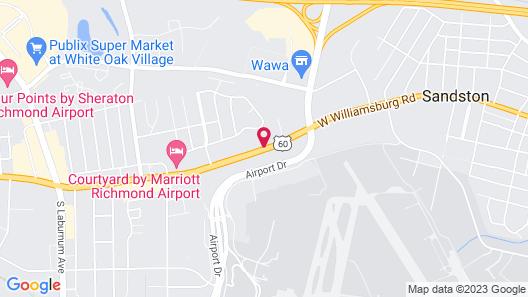 Motel 6 Sandston, VA - Richmond, Va Map