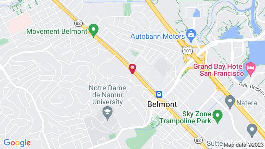 Hotel Belmont Map