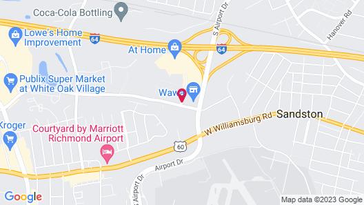 Holiday Inn Express Richmond Airport Map