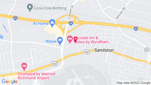 DoubleTree by Hilton Richmond Airport Map