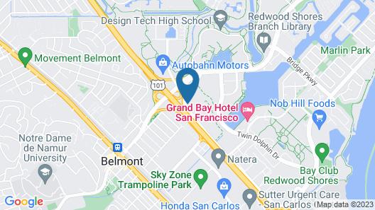Motel 6 Belmont, CA - San Francisco - Redwood City Map