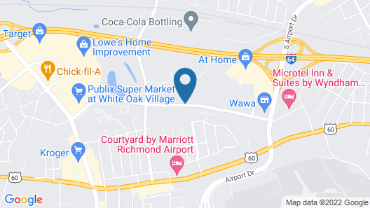 Candlewood Suites Richmond Airport, an IHG Hotel Map