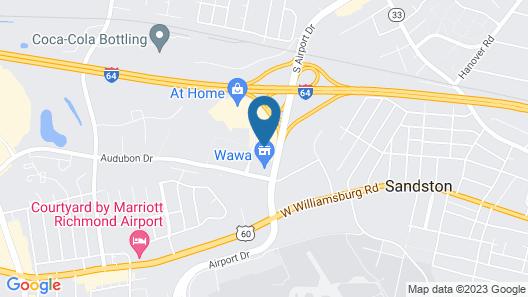 Holiday Inn Express Richmond Airport, an IHG Hotel Map