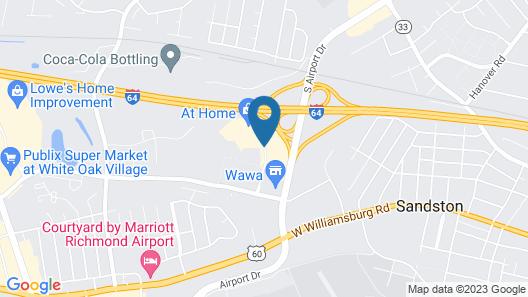 Hilton Garden Inn Richmond Airport Map